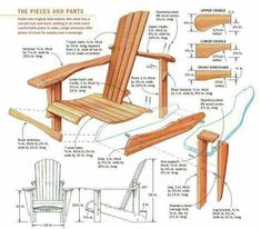 Anatomy of a basic Adirondack chair.