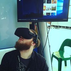 Martin taucht mit @oculus #Rift in virtuelle Realitäten ab. // Martin loves the #oculusrift and takes the chance to #immerse in #VR. #virtualreality #rpTEN #rp16 by mnkylab - Shop VR at VirtualRealityDen.com