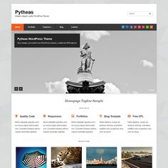Pytheas is a Free responsive WordPress theme for corporate and portfolio sites created by WPExplorer. This theme is GPL and completely free to use for any and every website. Best Free Wordpress Themes, Premium Wordpress Themes, Themes Photo, Cool Themes, Wordpress Template, Brochure Template, Free Html Website Templates, Web Design, Portfolio Site