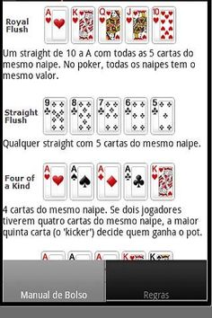 Very useful application for many players. Something that has come handy when that doubt which game is stronger. And also very good for that friend who is learning. He/seh downloads the application and can check the strength of hand alone.<br><br>This is the PORTUGUESE version. <br>English Version: https://play.google.com/store/apps/details?id=com.danielpaiva.pokerhandbookenglish<br><br><br><br><br><br><br><br><br><br><br><br><br><br><br><br><br><br><br><br># # # # # # # # # # # # # # #…