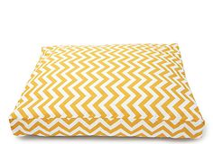 Zig Zag Dog Bed, Yellow. Pretty sure this would look super chic in my apt. $69.00