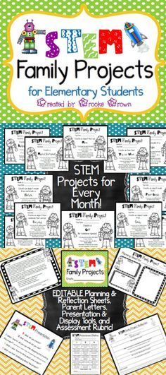 Brand new STEM Family Projects for elementary students! Monthly instructions…
