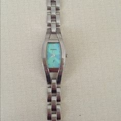 Fossil bracelet style watch Fossil bracelet style watch with green face Fossil Accessories Watches