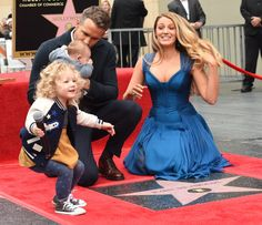 Ryan Reynolds brought out his two daughters for his Walk of Fame ceremony