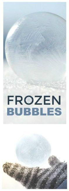 FROZEN BUBBLE EXPERIMENT FOR KIDS: SO COOL! #winterscienceforkids #winteractivitiesforkids #frozenbubbles