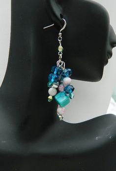 Earrings beaded earrings Dangle earrings by JewelrybyDecember67, $24.00
