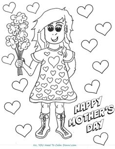 259 free mothers day coloring pages for the kids to color mothers day is for moms pinterest mothers day coloring pages coloring pages for kids and