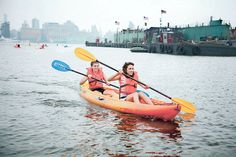 Kayak the Hudson River: The Hoboken Cove Community Boathouse offers free kayaking on the Hudson River from June through September. There's no better way to view the skyline of Manhattan on a sunny day than enjoying it out on the water.