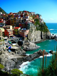 Manarola is a small town in northern Italy. It is the second smallest of the famous Cinque Terre towns frequented by tourists.