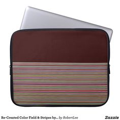 Re-Created Color Field & Stripes by Robert S. Lee Laptop Computer Sleeves #Robert #Lee #art #Neoprene #Laptop #Sleeve #graphic #design #colors #sleeve #electronics #tech #laptop #mac #apple #girls #boys #men #women #ladies #style #for #her #him #gift #want #need #love #customizable
