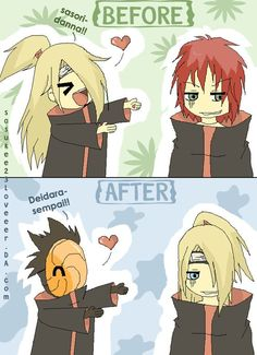 Read now you know how it feels from the story Akatsuki random picture by navelover (leeann Fang) with 105 reads. Now Deidara kno. Naruto Shippuden Sasuke, Naruto Kakashi, Anime Naruto, Naruto Chibi, Sasori And Deidara, Deidara Akatsuki, Naruto Fan Art, Naruto Cute, Naruto Girls