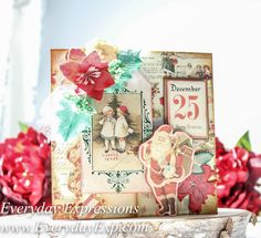 Prima Sweet Peppermint Christmas Card from Everyday Expressions.