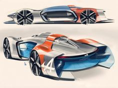 Alpine Vision Gran Turismo Concept Design Sketch by Joe Reeve
