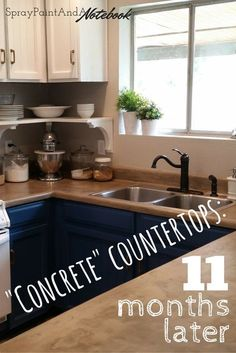 Easy Diy Concrete Counters The Missing Link Diy Concrete Cool Concrete Kitchen Countertops Decorating Design