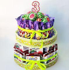 Торт из соков на 3 день рождения ребенка.