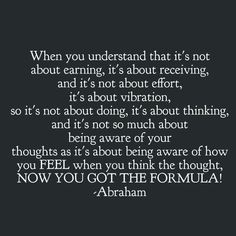 Being aware of how you feel when you think a thought