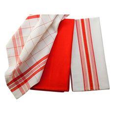 3 Pack Kitchen Towels - Flame | Nebraska Furniture Mart