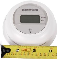 Honeywell Digital Round T8775C1005 Non-Programmable 1 Heat/1 Cool by Honeywell. $47.06. From the Manufacturer                Premier White 1 Heat/1 Cool Stage Digital Round Thermostat with manual changeover and R,Rc,O,B,G,Y,W terminals for 24 Vac gas, oil and electric heating with cooling, including 1 heat/1 cool heat pumps                                    Product Description                The Honeywell T8775C1005 digital round non-programmable thermostat features...