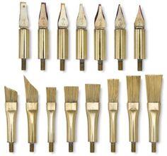 Hot Tool Attachments for encaustic painting Du matériel que l'on aimerait trouver en Europe ;-)