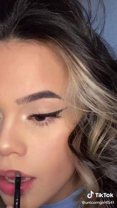 Casual Makeup, Edgy Makeup, Eye Makeup Art, Cute Makeup, Hair Makeup, Makeup Eyes, Pretty Makeup Looks, Party Makeup, Learn Makeup
