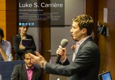 Luke Carriere on about. Co Founder, Thighs, Student, Spaces, Reading, Reading Books, Thigh, Stockings