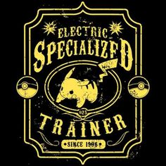 Electric Specialized T-Shirt $12.99 Pokemon tee at Pop Up Tee!