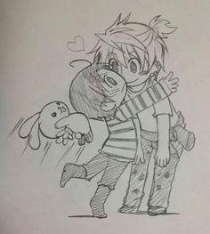 Sekaiichi Hatsukoi - Chibi Kisa and Yukina : Official Art--Yukina is adorable!!!!!!
