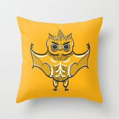 The Mad Bat Throw Pillow