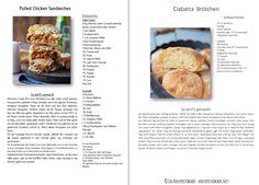 Pulled Chicken BBQ Cider Ciabatta Burger mit Coleslaw #dinner #snacks #bbq | Das Knusperstübchen