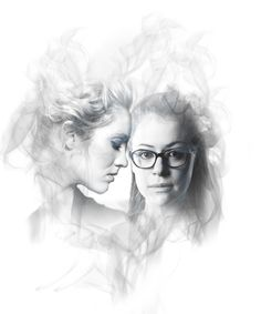 Cophine in Black and White Orphan Black, Delphine Cormier, Evelyne Brochu, Otp, Black Art, Black And White, Lgbt Quotes, Fanart, Tatiana Maslany