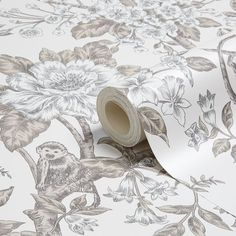 Sumatra Leaves Trees Jungle Cream Brown Floral Flower Monkey Wallpaper 98451 for sale online Monkey Wallpaper, Diy Wallpaper, Garden Supplies, Floral Flowers, Safari, Home And Garden, Wood, Painting, Cream