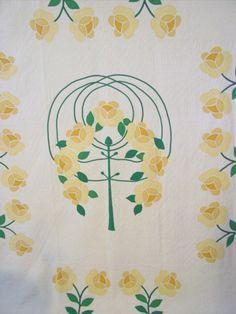 Mountain Mist Rose Tree Applique quilt