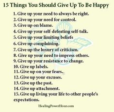 What are you willing to give up to be happy?
