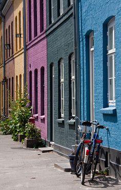 Beautiful coloured houses, Copenhagen, Denmark