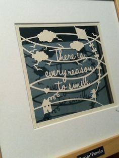 "Image of ""There is Every Reason to Smile"" Original Medium Papercut 23x23cm"