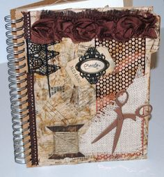 """Create"" art journal cover by Beth Gaddis"