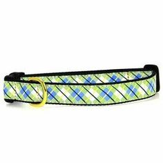 Blue  Green Argyle Dog Collar  Large -- Check out the image by visiting the link.
