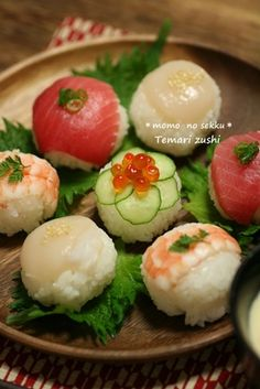 Temari Sushi Recipe ~