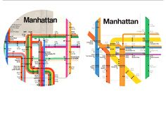 Leila and Massimo Vignelli -- Transportation Graphics -- NYC Subway Diagram