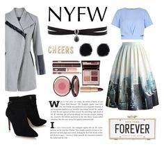 """""""New York Street"""" by indahristya ❤ liked on Polyvore featuring Charlotte Tilbury, Fallon, Kate Spade and Chicwish"""