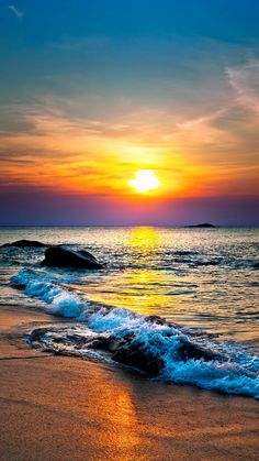 Amazing Sunsets, Amazing Nature, Sunset Pictures, Nature Pictures, Colorful Pictures, Beautiful Sunrise, Beautiful Beaches, Sunset Photography, Landscape Photography