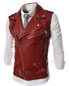 Mens Faux Leather Motorcycle Vest Brand New Punk Fashion Clothing Korean Kpop Fashion Biker Vest Is Makes Men Cool And Keep Looking Fashion Forward