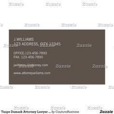 Carte de visite d'avocat de mandataire de damassé