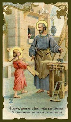 Go To Joseph holy card Catholic Art, Catholic Saints, Religious Art, Roman Catholic, Jesus Mary And Joseph, St Joseph, Catholic Pictures, Vintage Holy Cards, Holy Mary