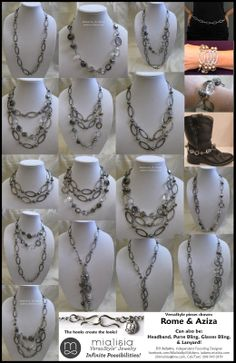 The many ways two Mialisia VersaStyle necklaces can be worn together!