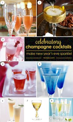 Celebrate NYE in style with these champagne cocktails! #NewYearsEve
