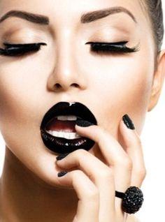 makeup 2016 labios negros - Buscar con Google