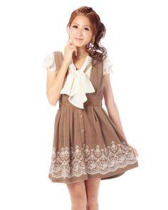 裾フロッキージャンスカ|ワンピース | 渋谷109で人気のガーリーファッション リズリサ公式通販