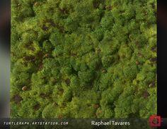 Moss material study, Raphael Tavares on ArtStation at https://www.artstation.com/artwork/y34zJ
