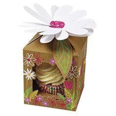 "4 boîtes à cupcake ""Petit Jardin"" Meri Meri"